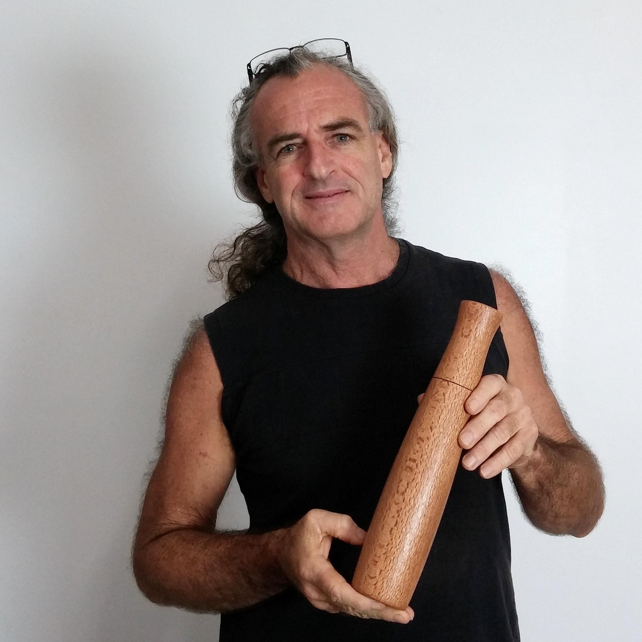 pepper grinder in queensland kauri - bob gilmour - australia
