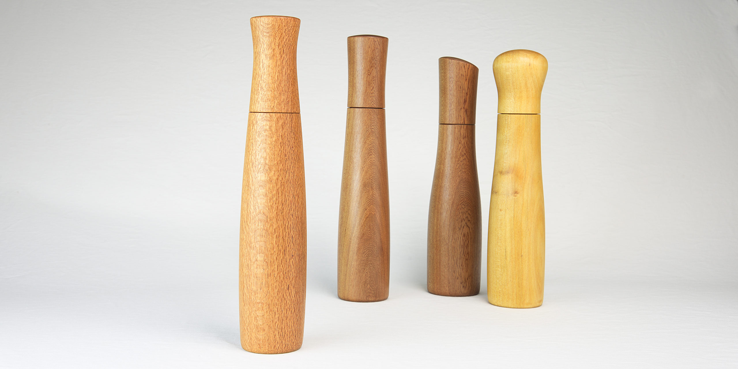 Pepper grinders and spice mills handmade by Bob Gilmour, Australia